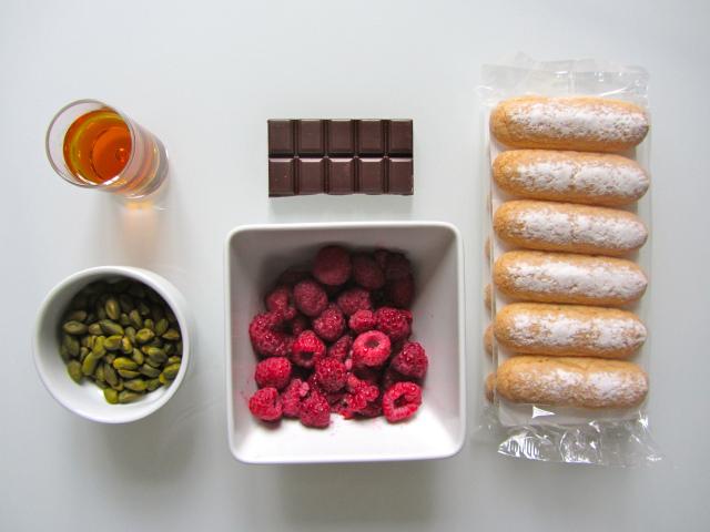Tiramisu aux framboises et aux pistaches, ingrédients 2