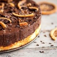 Gâteau aux Agrumes, Chocolat et Chips d'Oranges