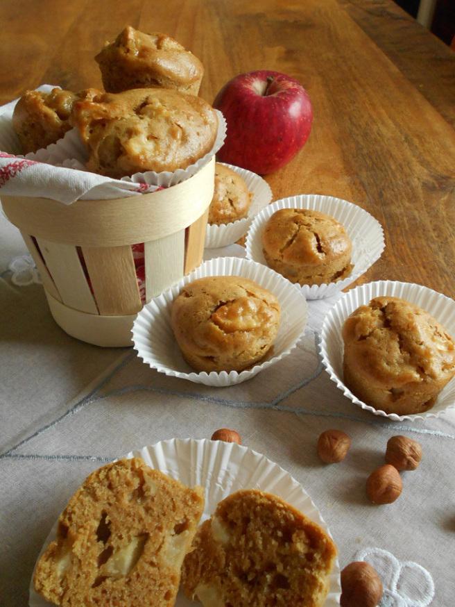 petits cakes pomme-noisettes