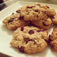 Cookies aux Flocons d'Avoine & Cranberries