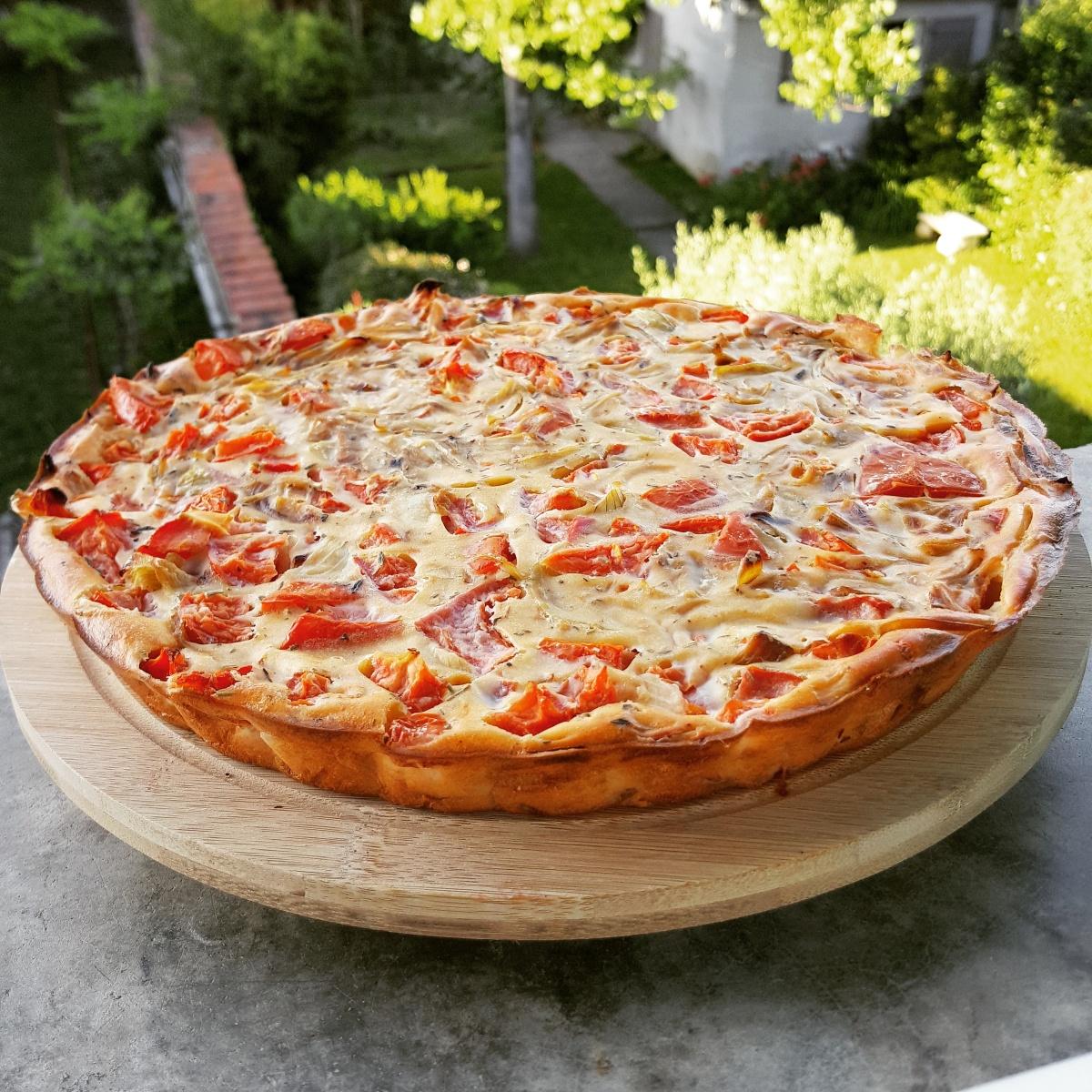 Quiche sans Pâte : Tomate, Ricotta & Oignons