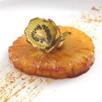 Ananas Rôti et Chips de Kiwi