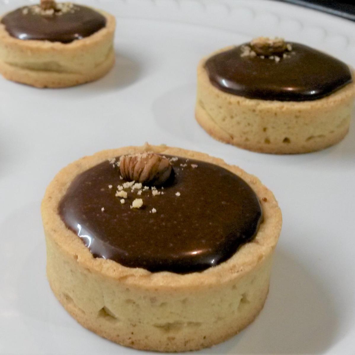 Tartelette Chocolat-Caramel & Praliné-Noisettes
