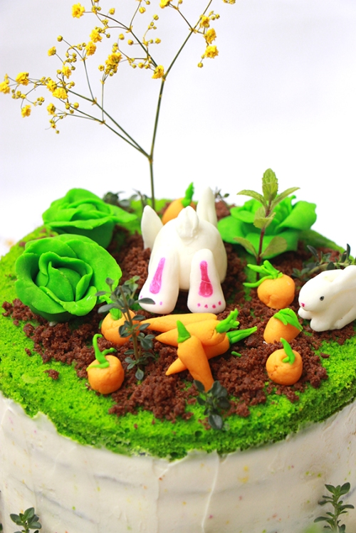 Rainbow cake Paque - devorezmoi 04
